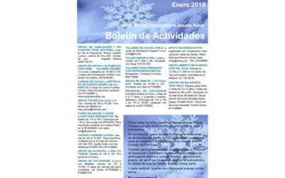 Boletín Actividades Enero 2019