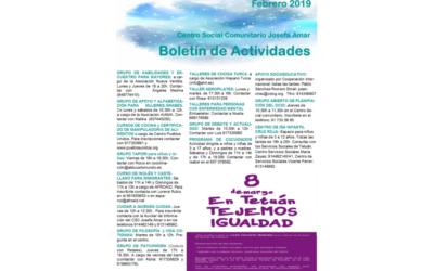 Boletín Actividades febrero 2019