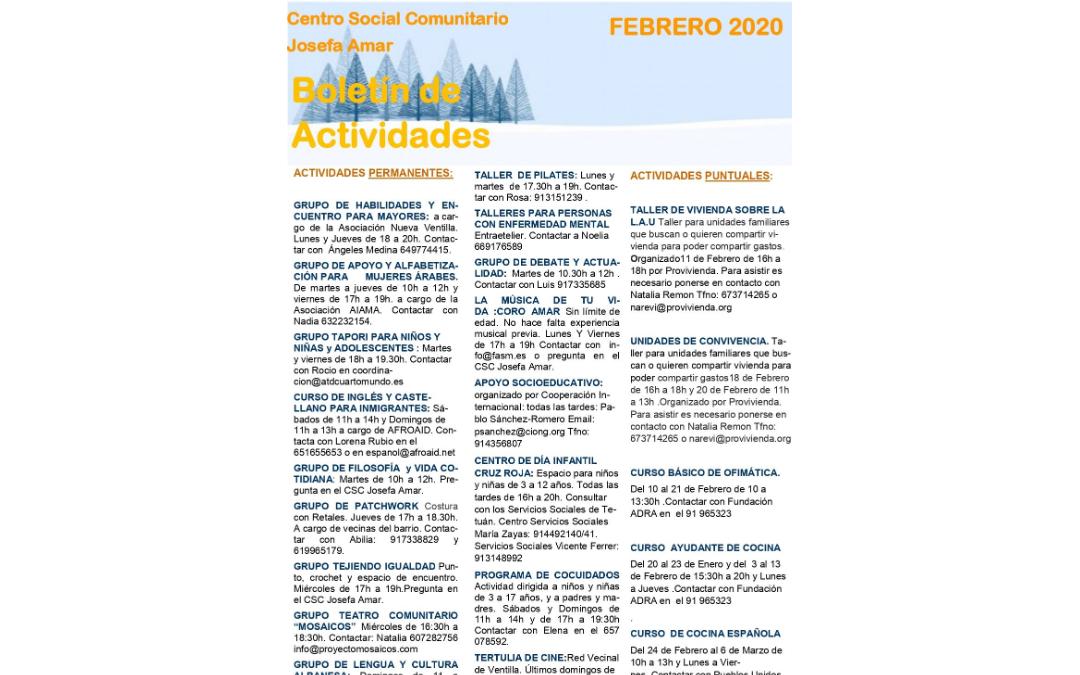 Boletín Mensual de Actividades del CSC