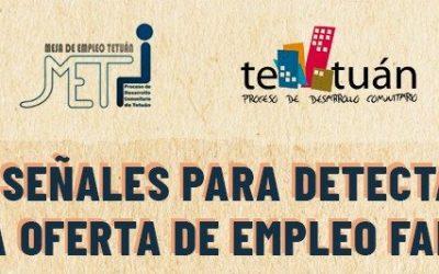 MESA DE EMPLEO DE TETUÁN: Cómo detectar ofertas falsas o fake news de empleo.